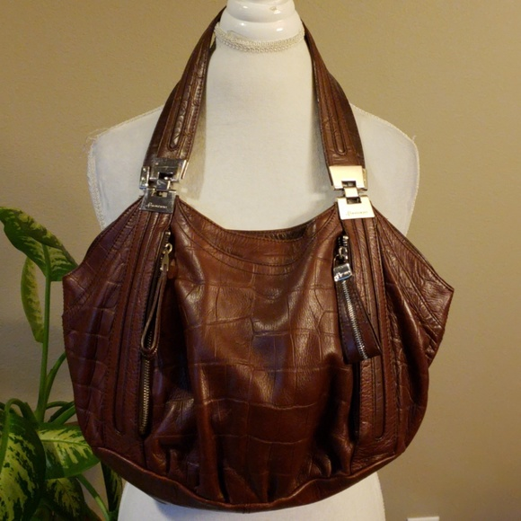 b. makowsky Bags   B Makowsky Brown Leather Shoulder Bag   Poshmark 8fcc4b0ca0